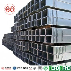 100×100 ASTM A501 square galvanized mild steel hollow sections