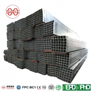 ODM 40×40 steel square pipe YuantaiDerun