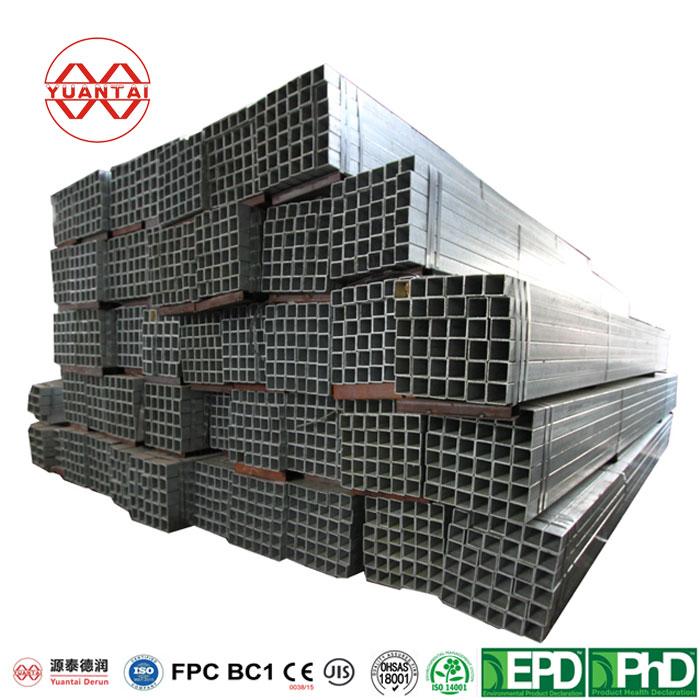 Manufacturer ERW Galvanized Steel Hollow Square Tube-2