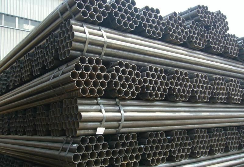 Big discounting ERW steel pipe to Colombia Factory detail pictures