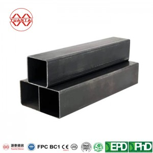 Q235 GR.B ms black rectangular and square steel pipe