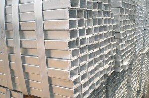 Good quality 100% Hot galvanized square tube for Algeria Factories