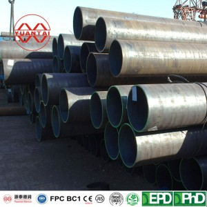 Manufacturers ERW materials construction black steel pipe