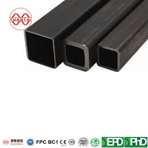 ASTM A36 karsti velmēta oglekļa tērauda kvadrātveida caurule