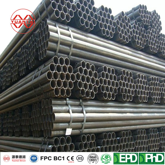High corrosion protection hot rolled black carbon welded steel round pipe and tube manufacturer-1
