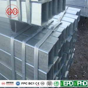 Cheap ERW galvanized low carbon steel square pipe