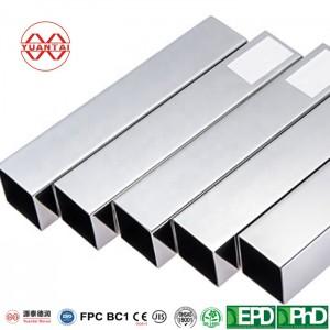 European standard hot dip galvanized square pipe manufacturer