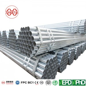 Famous Galvanized Steel Pipe 4 Inch Thin Wall