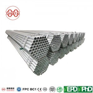 275G/M2 Hot Dipped Galvanized Round Pipes with Flat End