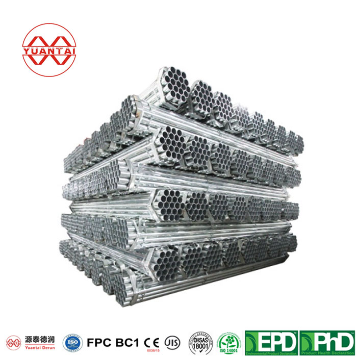 275G/M2 Hot Dipped Galvanized Round Pipes with Flat End-5