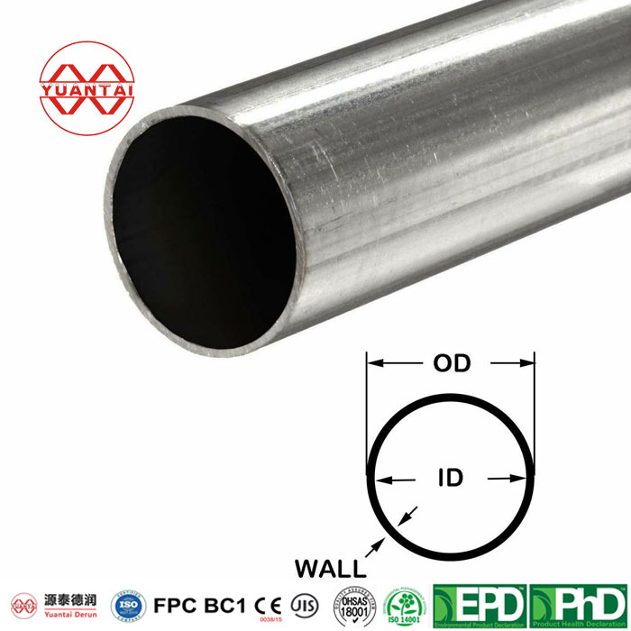 Hot dip galvanized round pipe for glass curtain wall-2