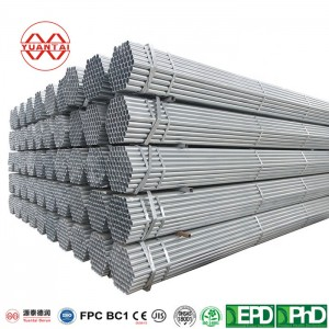 Hot dip galvanized round pipe for ship use