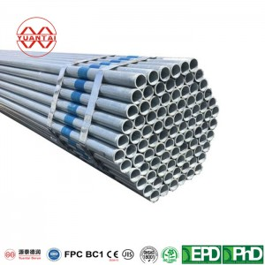 Hot dip galvanized round pipe for tower crane manufacture