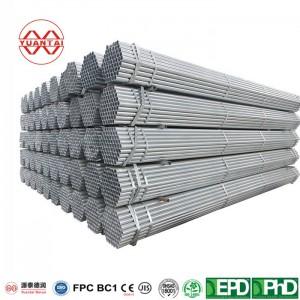 Hot dip galvanized round pipes for mechanical construction