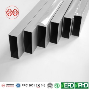 Hot dip galvanized square pipe for glass curtain wall works