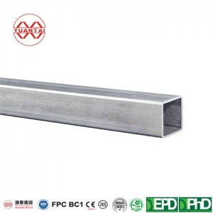 Hot dip galvanized square tube for sports hall