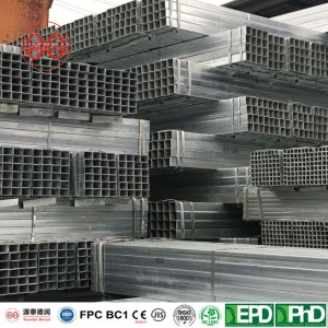 Hot dip galvanized square tube for mechanical structure