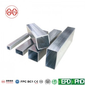 Hot dip galvanized square tube for building structure