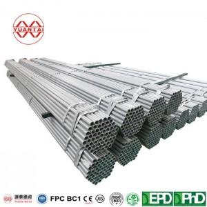 Hot dip galvanized welded steel tubes for low pressure fluid transport