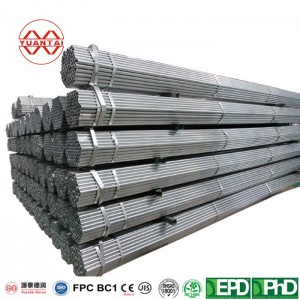 Hot dip galvanized welded steel pipes for mechanical construction