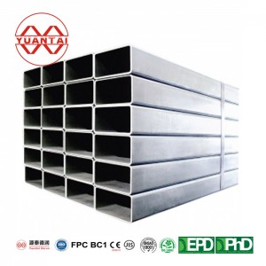 Hot galvanized square tube whole sale manufacturer