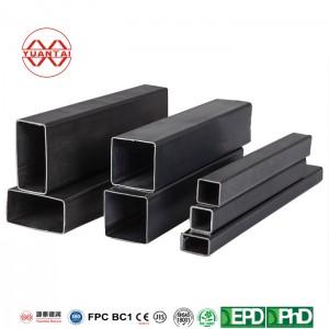 erw carbon steel hot dipped galvanize rectangular steel pipe