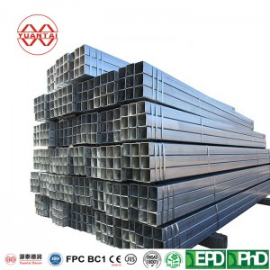Galvanized CARBON STEEL WELDED SQUARE STEEL PIPES YuantaiDerun