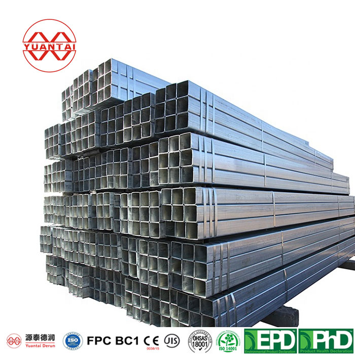 Galvanized CARBON STEEL WELDED SQUARE STEEL PIPES YuantaiDerun Featured Image