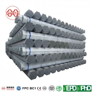 ODM Hot galvanized round pipe