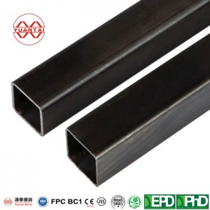 OEM black square hollow sections