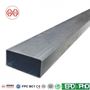 OEM Hot galvanized rectangular tube