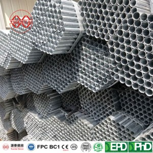 OEM Hot galvanized round pipe
