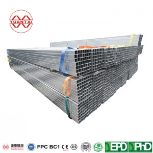 XXS hot dipped galvanized square steel pipes