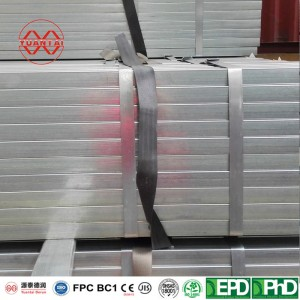 SCH60hot dipped galvanized square steel pipes