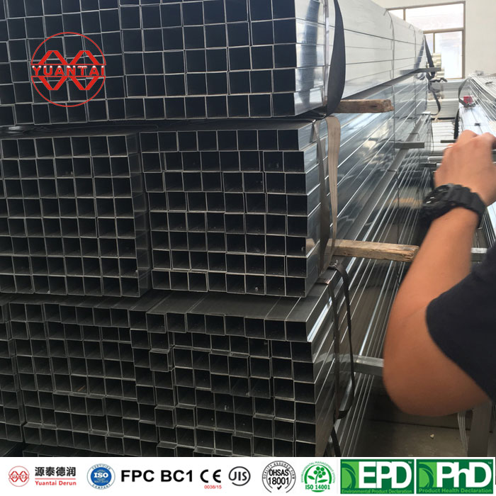 SCH20 hot dipped galvanized square steel pipes Featured Image