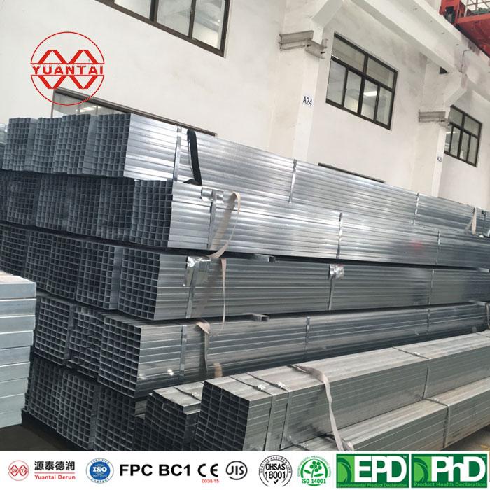 welded square steel pipe galvanized pipe CE certificate-15-0