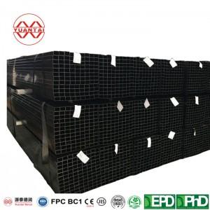astm a500 grade b black square steel pipe