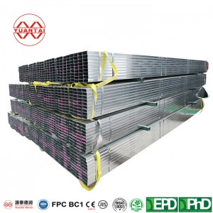 welded square galvanized steel pipe with CE certification