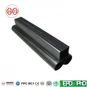 Small diameter carbon steel hollow section rectangular pipe