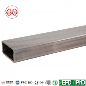 Unpolished (ground) steel rectangular tube-5.08 x 7.62 x 0.20 cm-8 feet long