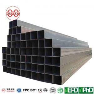 building material black carbon iron square pipe rectangular tube