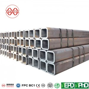 square howllow section of mild steel YuantaiDerun