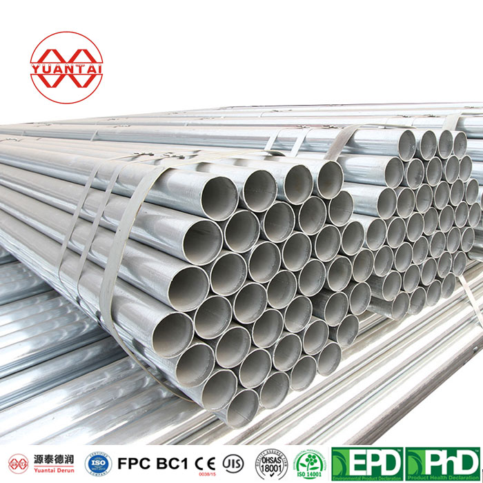 galvanized iron round hollow sections YuantaiDerun-1