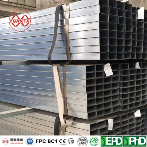 SCH40S hot dipped galvanized square steel pipes
