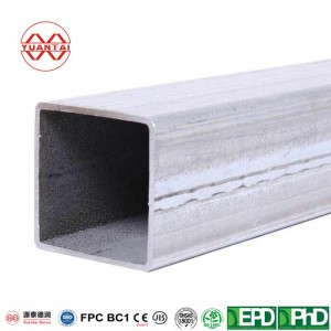 SCH10S hot dipped galvanized square steel pipes