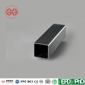 4 inch thin wall galvanized square steel tube