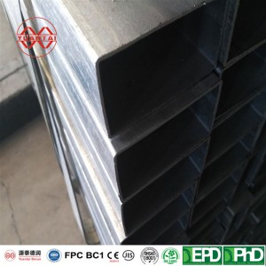 SCH30 hot dipped galvanized square steel pipes