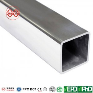 SCH100 hot dipped galvanized square steel pipes