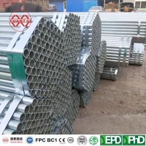 ODM Hot galvanized round pipe factory