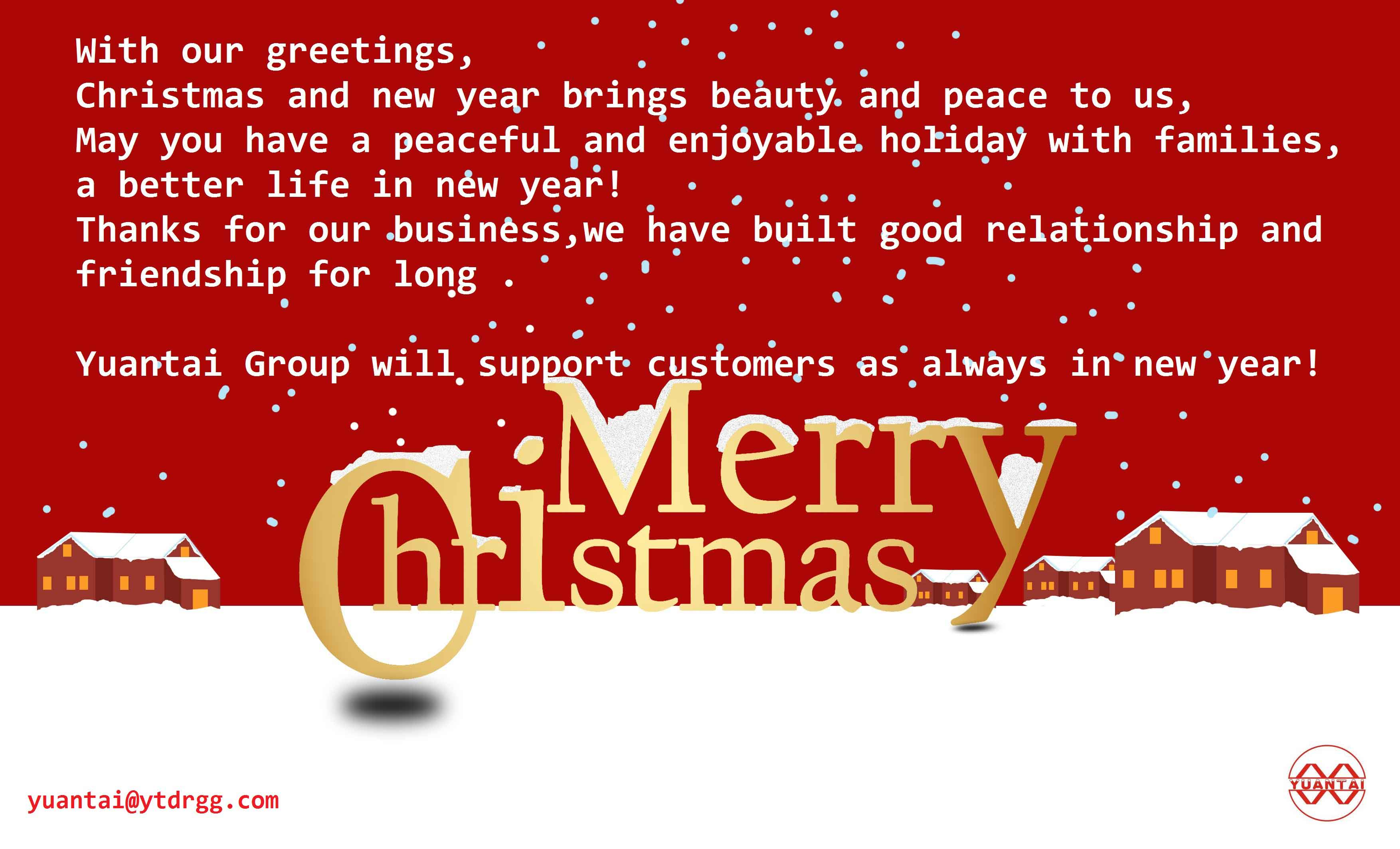 Greetings to all our customers in new year: